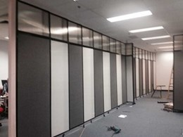 PPA sliding room dividers help open plan office create multiple training areas