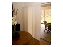 Panel glide blinds available from Suntex