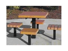 Parkway street furniture range from Moodie Outdoor Products