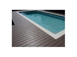 Passport PVC decking from Composite Materials Australia installed around pool
