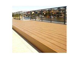 Passport PVC plastic decking from Composite Materials Australia used for jetty in Mandurah in Western Australia