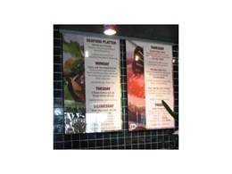 Patented Slide-A-Sign Menu Boards from Stanton Creative Group