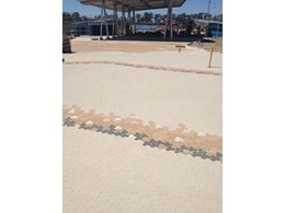 Pavers from Adbri Masonry recreate tideline effect at Wet'n'Wild Sydney