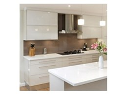Pearl Gloss perspex kitchen doors available from Mitchell Plastics