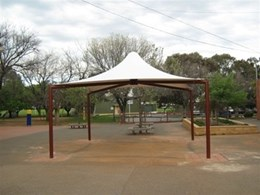 Permanent shade structure from Flexshade installed in Adelaide primary school