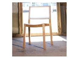 Perspex Frost from Mitchell Plastics used in oak chair design