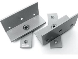 Pivot door details from Angle Shoe Products for flush service closets and tight budgets