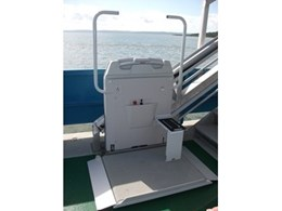 Platform Lift Company installs wheelchair stair lifts on Aremiti ferries