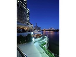 Platform lift installed at Brisbane's Eagle Street Pier for disabled access