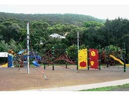 Playground equipment from Moduplay Commercial Play Systems installed at Stanwell Park Beach