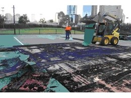 Plexicushion sports surface for the Australian Open