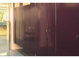 Powder coated toilet cubicles from Compact Group