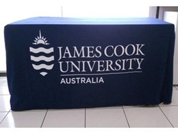 Printed corporate tablecloths for universities, colleges or schools from ITK