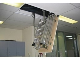 Pull-down access ladder added to heavy duty commercial series from AM-BOSS