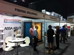 Pyropanel Developments showcases different door-sets at Fire Australia 2015 exhibition