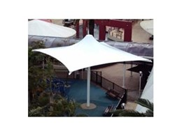 Quartet outdoor umbrellas from Flexshade provided for playground at Broadbeach Mall