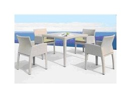 Rehau outdoor synthetic wicker furniture available from Inter-Room