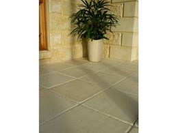 Replicate a quarried European finish with Adbri Masonry's wet cast limestone pavers