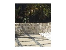 Retaining walls - concrete blocks for a quality sandstone look
