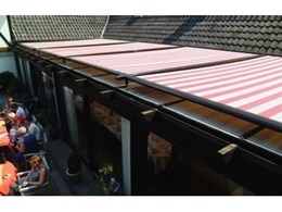 Retracting roof awning from Aalta Screens Systems