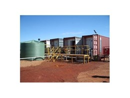 Reverse osmosis desalination equipment from Coates hire provides pure drinking water solutions to remote mine sites