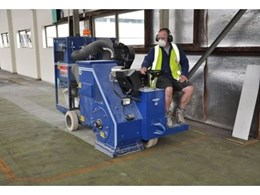 Ride-on shot blaster hired from Kennards Hire Concrete Care saves time for The Superseal Group