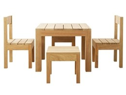 Robert Plumb introduces unique hardwood outdoor furniture range for children