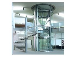 Round glass residential lift by Multilift Commercial