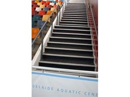 Rubber stair treads for indoor and outdoor application from Floorsafe International
