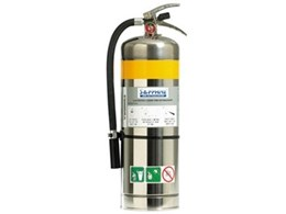 Sapphire MRI fire extinguishers, available from Wormald