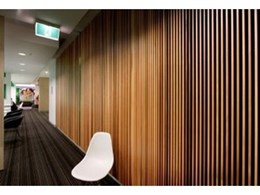 Screenwood Western Red Cedar used for acoustic wall panels at NIB project