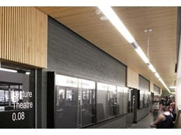 Screenwood timber ceiling tiles and panels installed in Queensland University campuses