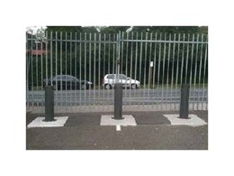 Security bollards to keep out unwanted traffic