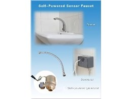 Self-powered sensor faucets from KST Water-saving Facilities
