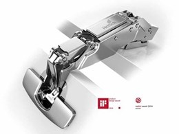 Sensys concealed hinges from Hettich feature new functions to suit all purposes