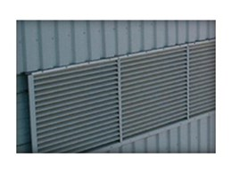 Series 1000 fixed blade louvres from Bondor