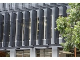 Shutterflex Perforated Aluminium Ellipse Fins reinvents Publicity Works building facade