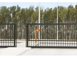 Single car height access control pillars