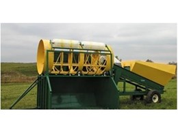 Sittler Trommel Screen with Hopper and Storage Bin from Recycle & Composting Equipment