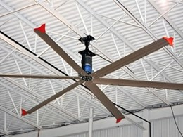 SkyBlade fans move more air with less energy