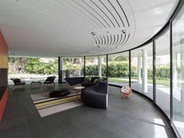 Sliding doors and windows project with BCG's curved glass wins industry award