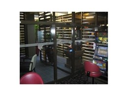 Slimline NGU automatic doors from ADIS Automatic Doors used in smoking areas
