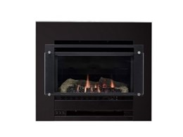Slimline gas log fire with glass panel from Rinnai