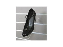 Slotwall Acrylic shoe shelves and sign holders available from Southern Imperial