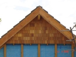 Square end shingles from Healy's Building Services