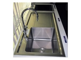 Stainless steel laboratory sinks available from Britex