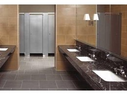 Stainless steel toilet cubicles from Compact Group
