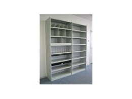 Steel shelving range available from Commando Storage Systems
