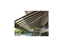 Straight Drop and Roll up outdoor awnings from Davonne Blinds