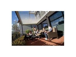 Stylish louvred pergola outdoor roofing systems from Vergola can add value to a home